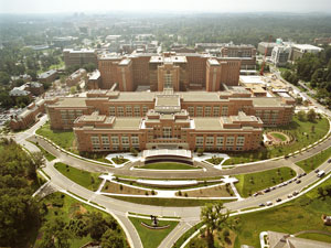 The Mark O. Hatfield Clinical Research Center. Aerial photography by Duane Lempke, Sisson Studios, Inc.