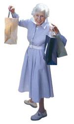 Photo of an elderly woman shopping