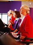 Senior woman on treadmill