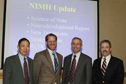 Alliance Speakers (L to R) Dr. Nakamura, Dr. Pine, Dr. Insel, and Dr. Goodman