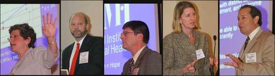 Alliance Speakers (L to R): Dr. Leibenluft, Dr. Giedd, Dr. Heinssen, Dr. Jaycox, Dr. Regier