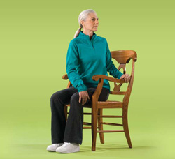 Photo of a woman doing back exercises