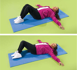Photo of a woman doing lower back exercises