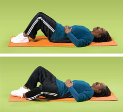 Photo of a man doing hip exercises