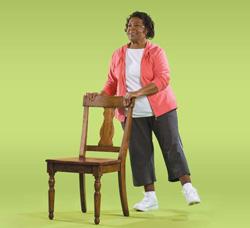 Photo of woman doing side leg raise exercise