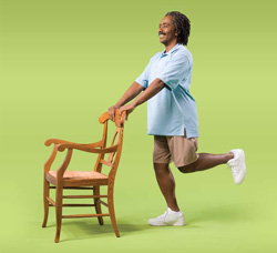 Photo of man doing knee curl exercise
