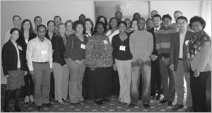 Photo of J Taylor Harden, Ph.D., R.N., F.A.A.N. and 2007 Technical Assistance Workshop Attendees