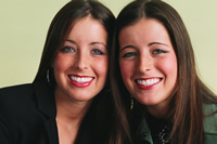 Photo of smiling twins