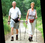 Photo of a couple hiking
