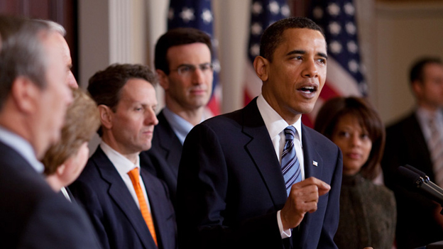 President Obama announces outlines for the FY2010 Budget