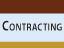 Contracting Opportunities