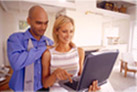 Husband assisting spouse with Career Exploration