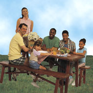 Family At a Picnic Table