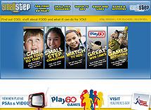 Screenshot of the Smallstep Kids website.