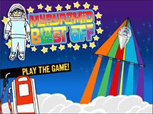 Screenshot of the MyPyramid Blast Off Game website.