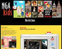 Screenshot of the NGA Kids website.