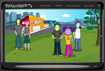 Screenshot of the You Are Here website.