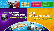 Screenshot of the Energy Star Kids website.