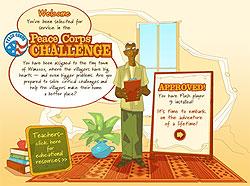 Screenshot of Peace Corps Challenge website.