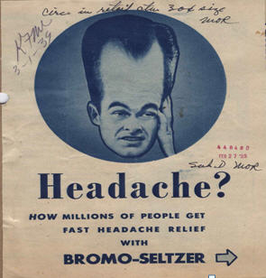 Advertisement for Bromo Seltzer, 1939