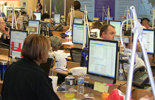 CDC staffers in the Emergency Operations Center