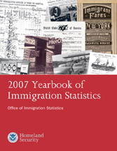 Cover of the 2007 Yearbook of Immigration Statistics