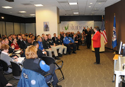Secretary Napolitano visits the Transportation Security Administration (TSA) headquarters and conducted a town hall with TSA employees. (TSA Photo/Dittberner)
