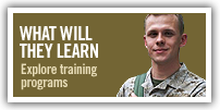 What will they learn. Explore training programs.