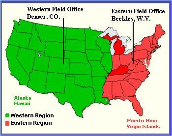 MSHA - EFS Field Office Contacts