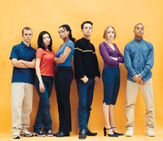 Photograph of a group of teenagers