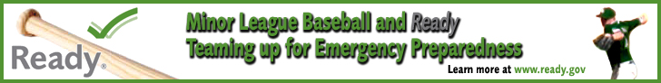 Minor League Baseball™ and Ready Teaming up for Emergency Preparedness