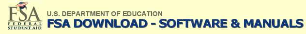 FSA logo US Department of Education - FSAdownload software and documentation