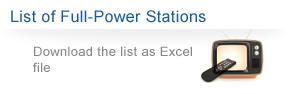 List of Full-Power Stations