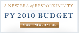 A New Era of Responsibility: FY 2010 Budget