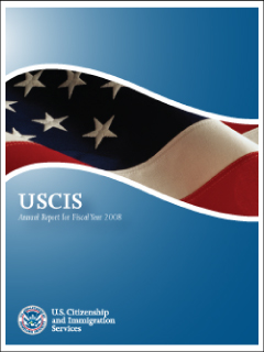 Cover the of USCIS 2008 Annual Report