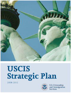 Cover of the USCIS Strategic Plan 2008 - 2012