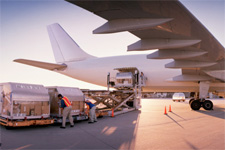 Photo of cargo being loaded into an airplane