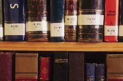 photo of books on a bookshelf
