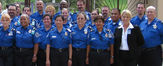 Group of Transportation Security Officers