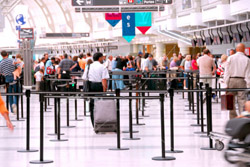 Photo of Airport Crowd
