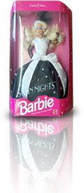 Photo of a barbie doll box, like the one described.