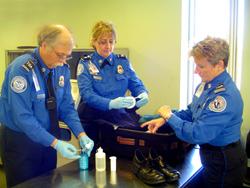 From left, Lead TSO Pete Williams, TSO Michelle Triplett  and  Supervisory TSO Marion Eckhard.
