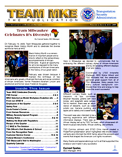 Cover of featured newsletter TEAM MKE.