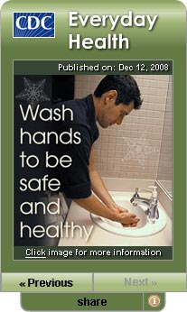 CDC Daily Health Tip Widget. Flash Player 9 is required.