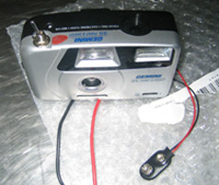 Photo of a camera with a bomb detonator