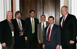 Members of the MTIPS teams flanked by Vivek Kundra and David Wennergren