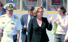 (L-R) Surgeon General Galson, David Abdoo - HHS, U.S. Rep. Niki Tsongas, and Anne Davis, founding trustee of the New Balance Foundation
