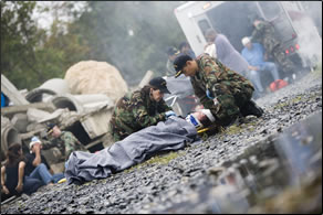 Commissioned Corps officers respond to public health crises and national emergencies.