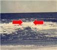 Rip current in ocean