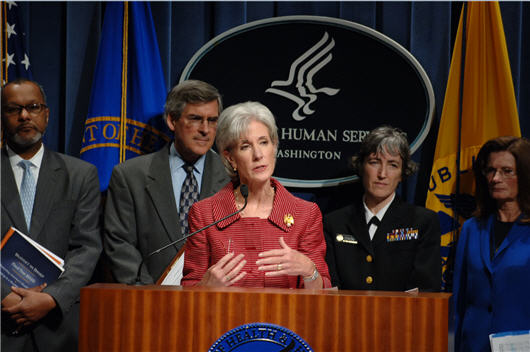 The Administration is working with Congress to Reform Health Care. Listen to Secretary Kathleen Sebelius talk about her first week in the office and the need for Health Reform.
